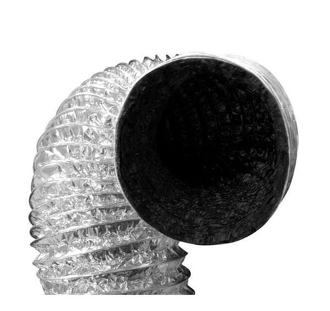 "Black-inside Foil Ducting 8"" x 25' - LumaGro"