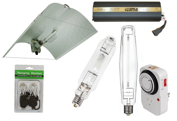 1000W Adjust-A-Wing Reflector Set - LumaGro
