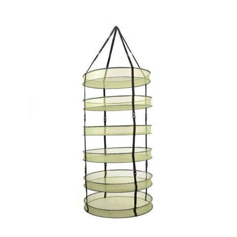 "32"" Diameter 6 Tier Large Drying Rack - LumaGro"