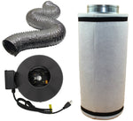 "6"" Inline Fan, Filter, and Duct Package - LumaGro"