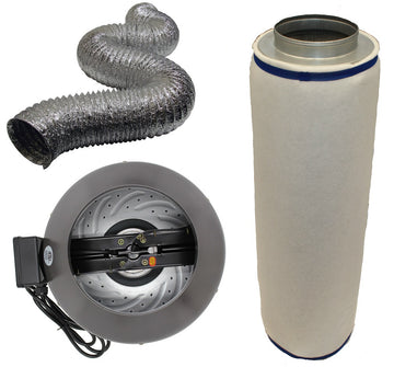 "8"" Inline Fan, Filter, and Duct Package"