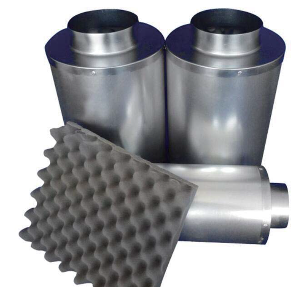 "Inline Duct Silencer 10"" - LumaGro"