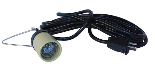 15 Foot, 16 Gauge UL Lamp Cord with Socket - LumaGro