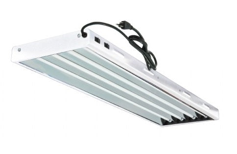 4FT 4 Bulb T5 HO Fluorescent Light Fixture - LumaGro