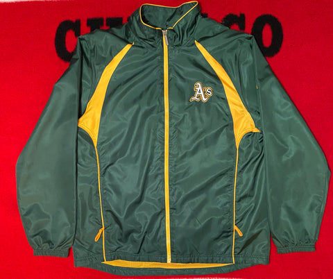 "VINTAGE REEBOK OAKLAND ATHLETICS WINDBREAKER ""GREEN GOBLIN"""