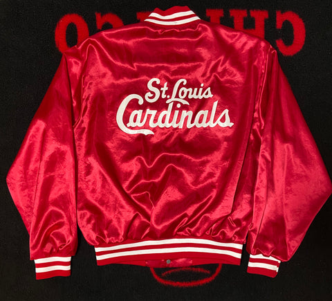"VINTAGE SWINGSTER ST.LOUIS CARDINALS SATIN JACKET ""RISE&SHINE"""