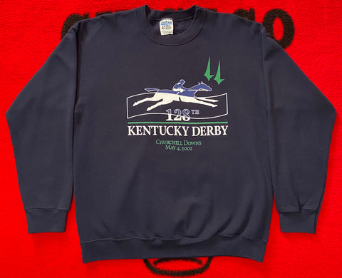 "Y2K KENTUCKY DERBY CREWNECK ""HORSEPOWER"""
