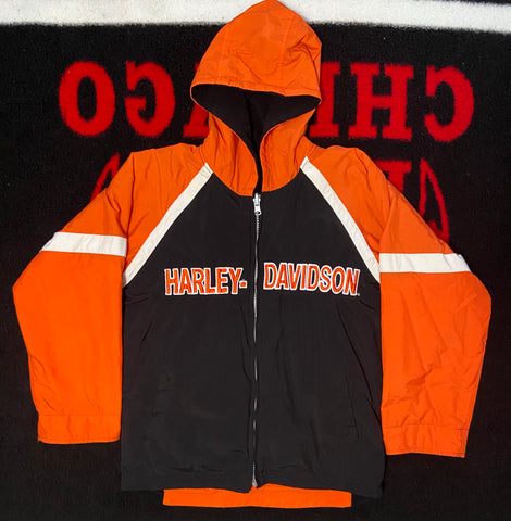 "VINTAGE REVERSIBLE HARLEY DAVIDSON COAT ""ORANGE MACHINE"""