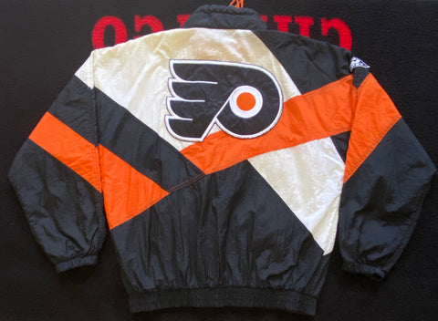 "VINTAGE PHILADELPHIA FLYERS FULL ZIP JACKET ""ORANGE CRUSH"""