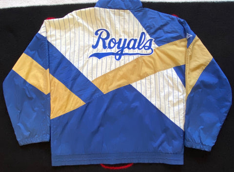 "VINTAGE KANSAS CITY ROYALS FULL ZIP JACKET ""ROYALTY"""