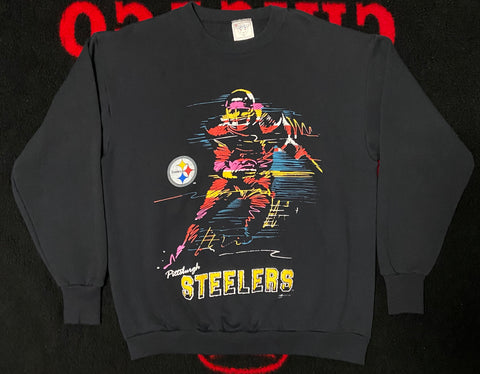 "VINTAGE PITTSBURGH STEELERS CREWNECK ""IRON CURTAIN"""