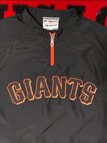 "VINTAGE WOMENS SAN FRANCISCO GIANTS PULLOVER WINDBREAKER "" SPRING TRAINING"""