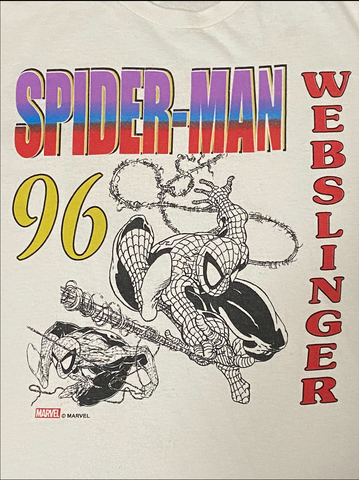 "96' SPIDER-MAN TEE ""WEBSLINGER"""