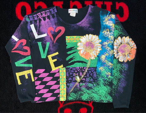 "Vintage Kolorway L/S Tee ""Love Conquers All"""