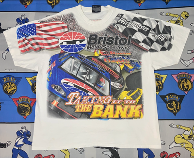 "Y2K Bristol Nascar All Over Print Tee ""Break The Bank"""