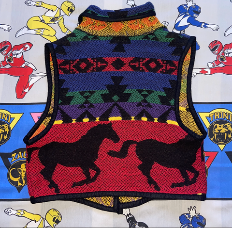"Vintage Painted Pony Vest ""Wild West"""
