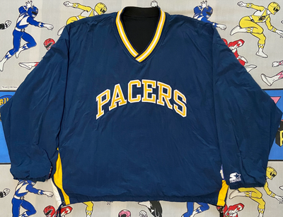 "VINTAGE REVERSIBLE INDIANA PACERS PULLOVER ""PACE YASELF"""