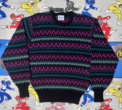 "VINTAGE MEISTER KNITTED SWEATER "" WHATS POPPIN"""