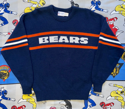 "VINTAGE CHICAGO BEARS KNITTED SWEATER ""DEFENSIVE SCHEMES"""