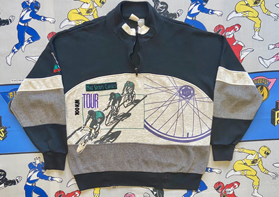 "VINTAGE NIKE CYCLING QUARTER ZIP ""NIKE SPORTS CLASSIC"""