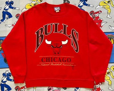 "VINTAGE CHICAGO BULLS CREWNECK SWEATSHIRT ""TORO RED"""