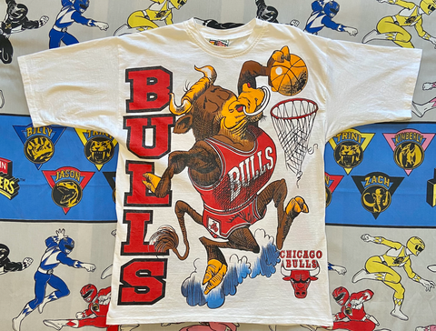 "VINTAGE CHICAGO BULLS ALL OVER PRINT TEE ""DUNKIN"""