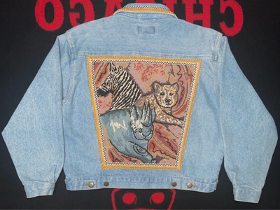 "Vintage Kolorway Denim Jacket ""Still Image"""