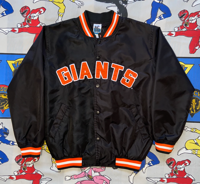 "VINTAGE ADIDAS GIANTS BOMBER JACKET ""BLOCK SCRIPT"""