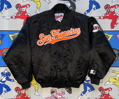 "VINTAGE SAN FRANCISCO GIANTS STARTER JACKET ""CURSIVE CURSES"""