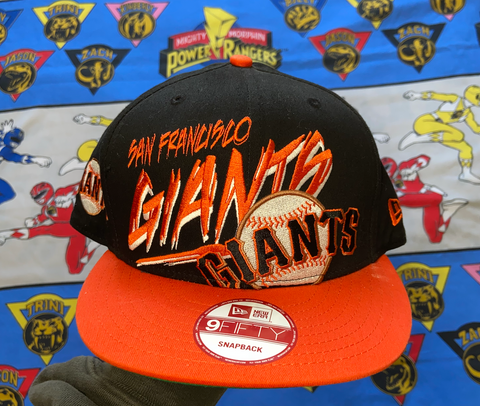 "VINTAGE SAN FRANCISCO GIANTS SNAPBACK ""DISTORTION"""