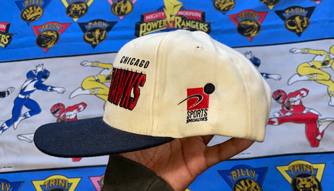 "VINTAGE CHICAGO BLACKHAWKS SNAPBACK ""HAWK EM"""