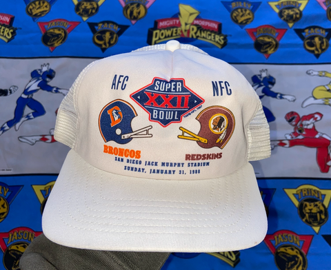"VINTAGE 1988 SUPERBOWL SNAPBACK ""BRONCOS VS. REDSKINS"""