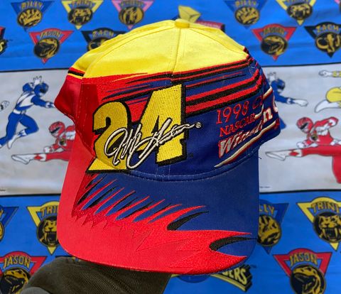 "VINTAGE JEFF GORDON SNAPBACK ""SHARK BAIT"""