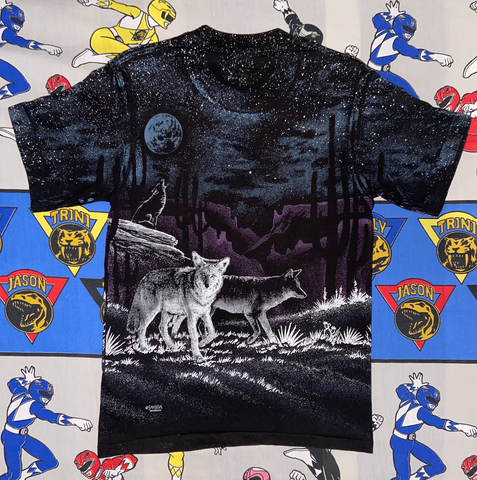 "SanSegal Wolf Tee "" Thieves in the night"""