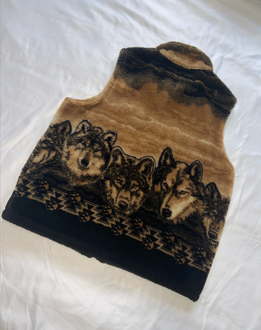 "Wolves Fleece Vest ""Wolf Pack"""