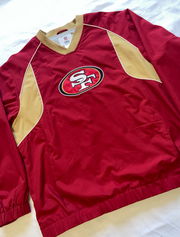 "San Francisco 49ers Pullover Windbreaker ""Gold Heart"""