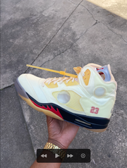 "Jordan 5 Retro ""OFF-WHITE Sail"""