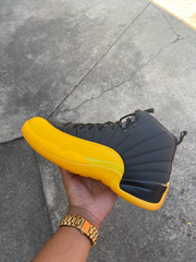 "Jordan 12 Retro Black ""University Gold"""