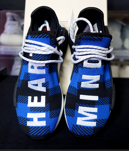 "ADIDAS NMD HU PHARRELL x BBC ""BLUE PLAID"""