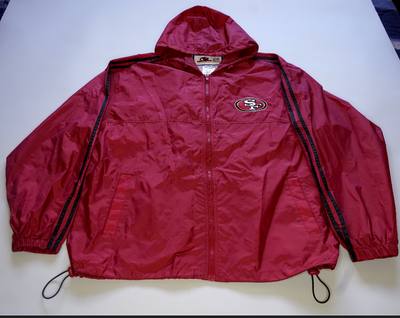 "VINTAGE WINDBREAKER JACKET "" SAN FRANCISCO 49ERS"""