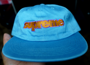 "SUPREME 5 PANEL HAT ""BABY BLUE"""