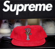 "SUPREME 5 PANEL HAT ""ROSES REALLY SMELL LIKE 💩"""
