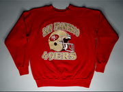 "KIDS VINTAGE SAN FRANCISCO 49ERS CREWNECK "" GOLD RUSH """
