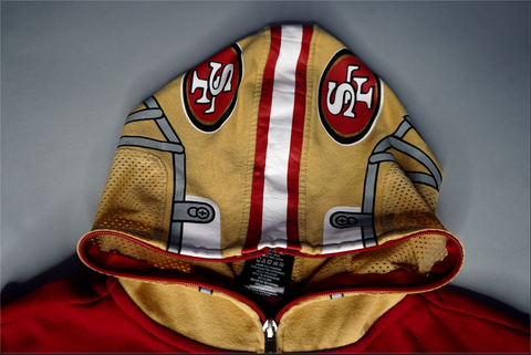 "KIDS VINTAGE SAN FRANCISCO 49ERS FULL-ZIP JACKET "" THE GRIDIRON """