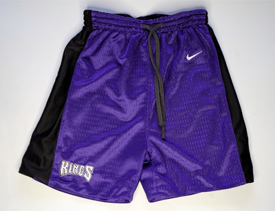 "KIDS VINTAGE REVERSIBLE HOOP SHORTS "" SACRAMENTO KINGS """