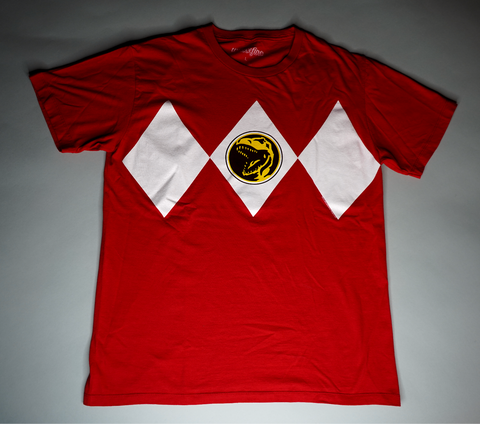 "MENS VINTAGE POWER RANGER TEE ""RED RANGER"""