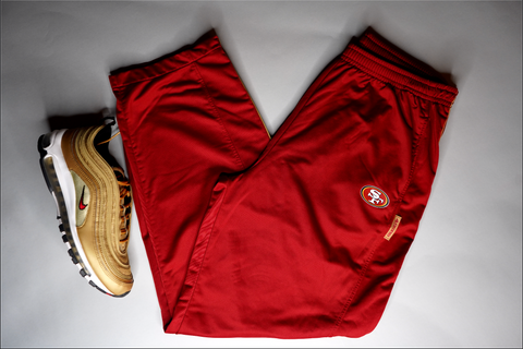 "MENS NIKE SAN FRANCISCO 49ERS TRACK PANT ""GOLD HEARTED"""