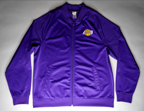"MENS SATIN LOS ANGELES LAKERS TRACK JACKET ""CHIP CITY"""