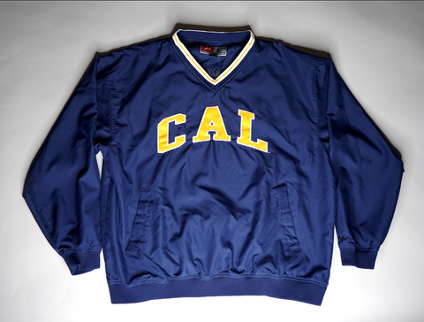 "MENS CAL BEARS PULLOVER WINBREAKER ""CAL BEAR IN YA EAR"""