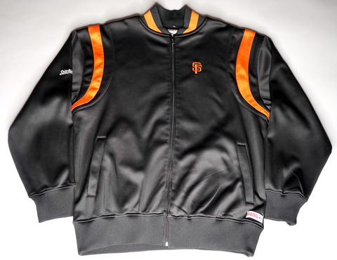 "MENS STITCHES SAN FRANCISCO GIANTS TRACK JACKET ""1-2 PUNCH"""